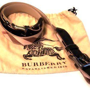 Authentic Double Adjustable Buckle Burberry Belt